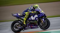 Pembalap Movistar Yamaha, Valentino Rossi merasa belum puas dengan hasil tes pramusim MotoGP 2019 di Sirkuit Ricardo Tormo, Valencia. (Yamaha MotoGP)