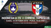 AFC U-19 Indonesia U19 Vs Chinese Taipei U-19 (Bola.com/Adreanus Titus)