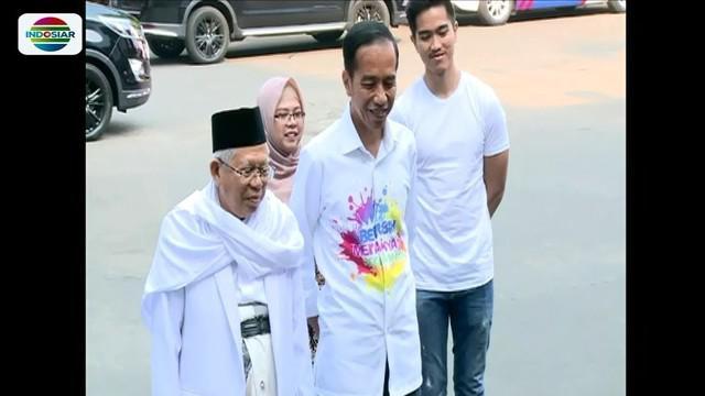 Selain ditemani para sekjen parpol koalisi, pasangan Jokowi-Ma'ruf Amin juga didampingi anak bungsu masing-masing saat jalani tes pemeriksaan di RSPAD Gatot Subroto.