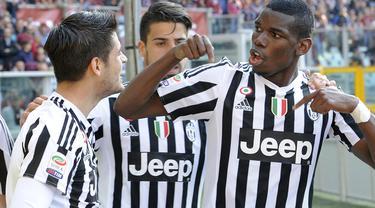 Sami Khedira yang mencetak 1 gol Juventus mencoreng performanya dengan kartu merah pada menit akhir saat Torino vs Juventus (20/3/2016).