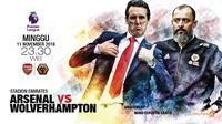 Arsenal vs Wolverhampton (Liputan6.com/Abdillah)