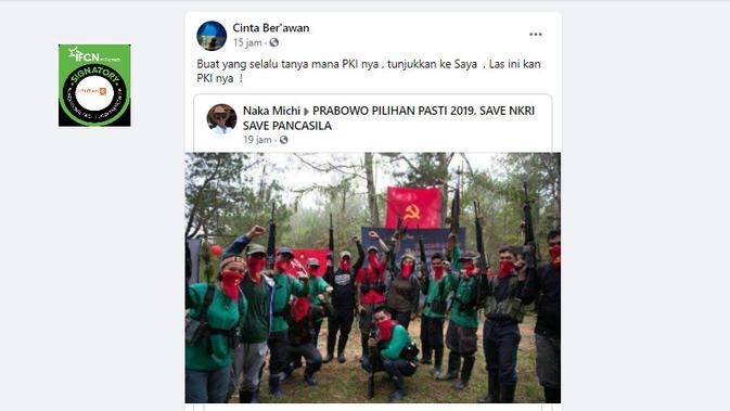 Cek Fakta Liputan6.com menelusuri klaim foto penampakan PKI