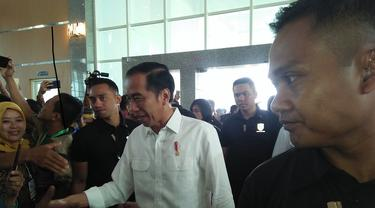 Presiden Jokowi hadiri kegiatan jambore desa yang berlangsung di Makassar (Liputan6.com/ Eka Hakim)