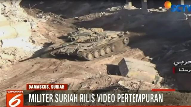 Pemerintah Suriah mengklaim mereka berhasil memutus jalur yang dikuasai Pemberontak.