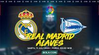 La Liga - Real Madrid Vs Deportivo Alaves (Bola.com/Adreanus Titus)
