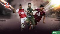 3 Pemain Alumni Timnas Indonesia U-18 di Shopee Liga 1 2019. (Bola.com/Faris Kholid)