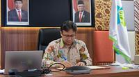 Menteri Kesehatan RI Budi Gunadi Sadikin menandatangani Nota Kesepahaman tentang Surveilans Genom Virus SARS-COV-2 di Jakarta, 8 Januari 2021. (Dok Kementerian Kesehatan RI)