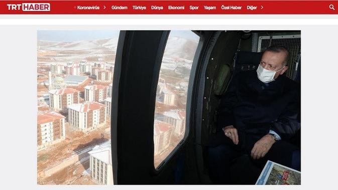 Gambar Tangkapan Layar Foto Erdogan dari Situs trthaber.com