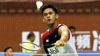 Tunggal putra Indonesia, Firman Abdul Kholik, langsung tersingkir pada babak pertama Taiwan Terbuka 2016 di Taipei Arena, Rabu (29/6/2016). (PBSI)