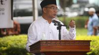 Menko PMK Muhadjir Effendy jadi khatib pada pelaksanaan shalat Idul Adha di Lapangan Kantor Bupati Luwu Utara, Sulawesi Selatan (Foto: Lipiutan6/Yopi Makdori)