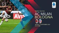 AC Milan vs Bologna (Liputan6.com/Abdillah)