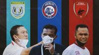 Piala Menpora -  Didik Ludianto, Kuncoro, Syamsuddin Batola (Bola.com/Adreanus Titus)