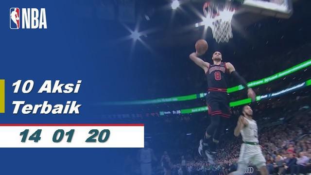 Berita Video 10 Aksi Pemain Terbaik NBA 14 Januari 2020