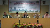 Guru Besar UIN Makassar Prof DR. M Qasim Mathar menyarankan MUI Jakarta Pusat sempurnakan kepengurusannya demi menguatkan persatuan umat Islam di tanah air (Liputan6.com/ Eka Hakim)