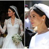 gaun pengantin Putri Diana, Kate Middleton, Meghan Markle (AP dan AFP)