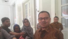Calon Gubernur Jawa Tengah Sudirman Said di Balai Kota DKI (Liputan6.com/Delvira Hutabarat)
