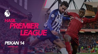Berita video hasil Premier League 2019-2020 pekan ke-14. Liverpool perbesar jarak pada klasemen sementara dengan Manchester City setelah kalahkan Brighton.