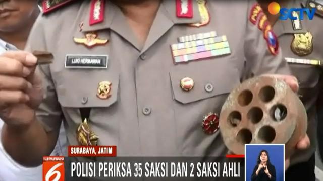 Polda Jawa Timur total sudah memeriksan 35 saksi dari tiga perusahaan, ditambah dua saksi ahli.