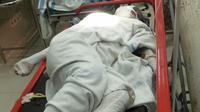 Korban ledakan gas elpiji mengalami luka bakar. (Liputan6.com/Achmad Sudarno)