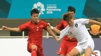 Duel Vietnam vs Korea Selatan di laga semifinal Asian Games 2018 di Stadion Pakansari, Cibinong, Rabu (29/8/2018). (Bola.com/Dok. INASGOC)