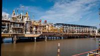 Ladang minyak dan gas di Blok Mahakam Kutai Kartanegara Kalimantan Timur. (Liputan6.com/Abelda Gunawan)