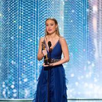 Brie Larson ketika hadir di Oscar 2016. (Bintang/EPA)