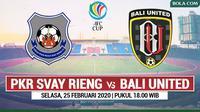 AFC CUP - PKR Svay Rieng Vs Bali United (Bola.com/Adreanus Titus)