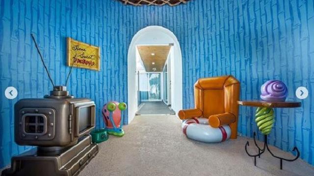 Menginap Di Vila Bak Rumah Nanas Spongebob Squarepants Ada Gary