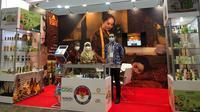 """KBRI Nur-Sultan berpartisipasi dalam pameran kosmetik """"Central Asia Beauty Expo"""". (Dok: Kemlu RI)"""