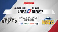 San Antonio Spurs Vs Denver Nuggets (Bola.com/Adreanus Titus)