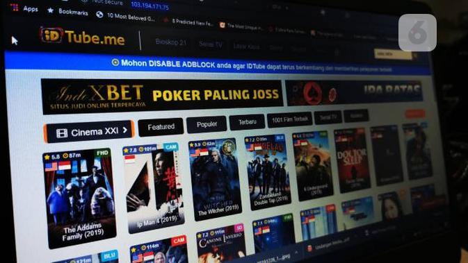 Ilustrasi platform streaming bajakan