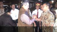 SBY tiba di Stasiun Tugu, Kota Yogyakarta. (Liputan6.com/Fathi Mahmud)