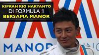 Rio Haryanto ketika masih tercatat sebagai pebalap F1 bersama Manor Racing.