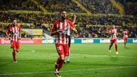 Pelatih Atletico Madrid, Diego Simeone, tak masalah kehilangan Yannick Carrasco pada Januari 2018. (AFP/Desiree Martin)