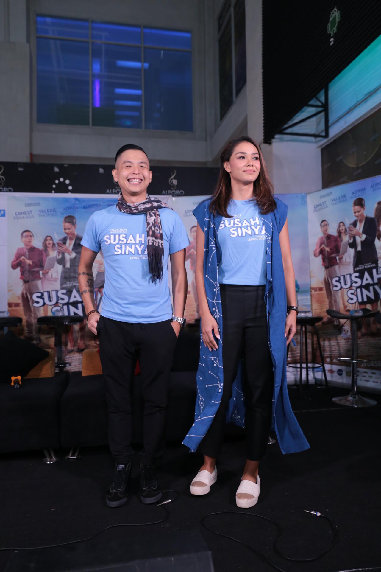Untuk kedua kalinya Adinia Wirasti terlibat dalam film garapan Ernest Prakasa. Kini, pemeran kelahiran Jakarta 30 tahun itu bermain dalam drama komedi. (Adrian Putra/Bintang.com)