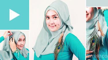 Tutorial Jilbab Segi Empat Kontemporer Praktis Dan Simpel Beauty Fimela Com