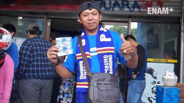 Jelang laga uji coba Persib vs Bali United penjualan tiket tidak dilakukan distadion tempat pertandingan belangsung, Sabtu (8/4/2017)
