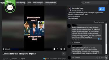 Gambar Tangkapan Layar Kabar Hoaks Jokowi Lengser dari Kursi Presiden dan Digantikan oleh Prabowo Subianto (sumber: Facebook).