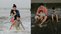 Momen Liburan Keluarga Kecil Sharena dan Ryan Delon. (Sumber: Instagram.com/mrssharena)