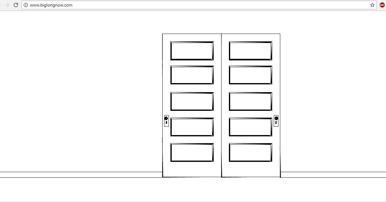 Membanting pintu secara virtual lewat situs BigLongNow (Sumber: BigLongNow)