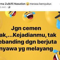 Postingan status istri Dandim 1417 Kendari di media sosial yang membuat suaminya dicopot dari jabatannya.(Liputan6.com/Ahmad Akbar Fua)