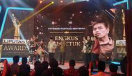 Engkus Al Getuk MeraihLiputan6 Awards 2019 kategori Pantang Menyerahpada Sabtu (25/5/2019). (Foto: Liputan6.com/Nanda Perdana Putra)