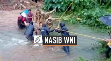 Ratusan orang menjadi korban tewas dari banjir besar yang melanda wilayah selatan india. Kemenlu RI memastikan diantara korban tewas tidak ditemukan WNI.