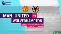 Premier League 2018-2019 Manchester United Vs Wolverhampton (Bola.com/Adreanus Titus)