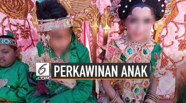 Jumlah perkawinan anak di Indonesia memprihatinkan, mereka dikawinkan di usia sangat muda.