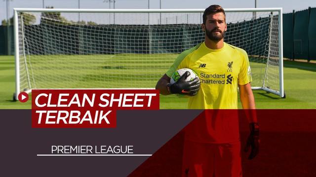 Berita Motion Grafis 5 Kiper Premier League Dengan Catatan Clean Sheet Terbaik, Alisson Becker Nomor 1