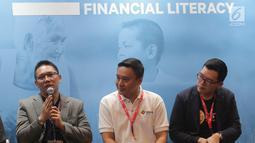 Kepala Bidang Kelembagaan dan Humas AFPI Tumbur Pardede saat menjadi narasumber Talkshow Financial Literacy di Indonesia Fintech Summit & Expo 2019, Jakarta, Selasa (24/9/2019). Talkshow bertajuk P2P Lending 101: How to Choose The Right P2P Platform for Your Needs. (Liputan6.com/HO/Ismail)