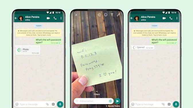 WhatsApp Rilis Fitur View Once di iOS dan Android