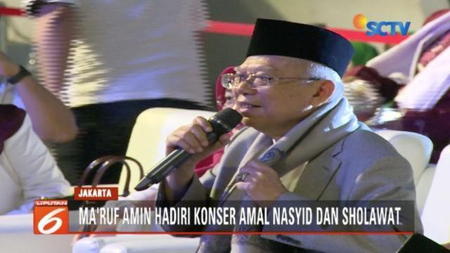 Ma'ruf Amin lelang sorban kesayangannya untuk korban bencana alam di Indonesia.