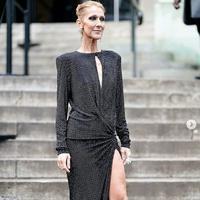 Celine Dion dengan gaun hitamnya. (dok. Instagram @celine_dion_vintage/https://www.instagram.com/p/BtCg9mbngTn/Esther Novita Inochi)
